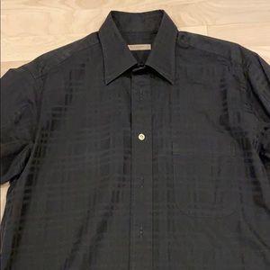 Burberry black button down shirt